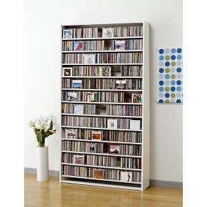 CD 大量 収納 1284枚 CDストッカー 1284 W(ホワイト) DVD も収納 CS1284 mifuji