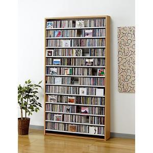 CD 大量 収納 1284枚 CDストッカー CS1284 N(ナチュラル) DVD も収納 壁面収納 mifuji