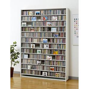 CD 大量 収納 1668枚 CDストッカー 1668 W(ホワイト) DVD も収納 DVDラック CS1668 mifuji