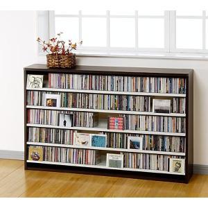 CD 大量 収納 695枚 CDストッカー CS695L D(ダーク) DVD も収納 CDラック DVDラック mifuji