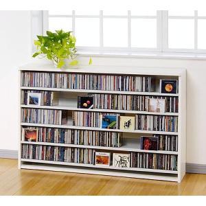 CD 大量 収納 695枚 CDストッカー CS695L W(ホワイト) DVD も収納 CDラック DVDラック mifuji