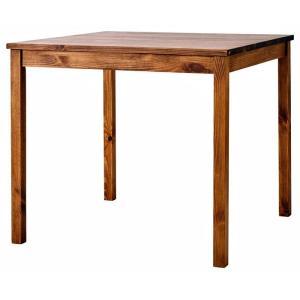ダイニングテーブル 正方形 コンパクト 80×80 2人用 サム SOME SNL ナチュラル 天然木パイン無垢材 北欧 かわいい アンティーク調 机 リビング モダン|mifuji