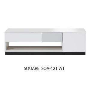 開梱設置便 スクエア リビングテーブル SQA-121 WT ホワイト W120cm MKマエダ センターテーブル 鏡面塗装 モダン おしゃれ SQUARE|mifuji