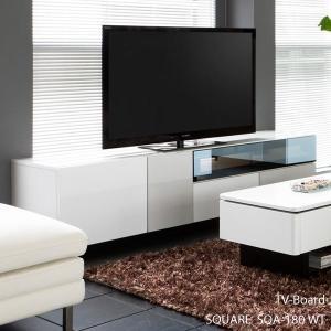 開梱設置便 スクエア TVボード SQA-180 WT ホワイト W180cm MKマエダ テレビボード 鏡面塗装 モダン おしゃれ SQUARE|mifuji