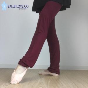 レッグウォーマー バレエ balletlove ロング丈 Wine