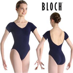 バレエ レオタード BLOCH シンプル 半袖 ネイビー|mignonballet