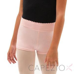 バレエ 子供 ショートパンツ カペジオ スカラップ ピンク・ブラック|mignonballet