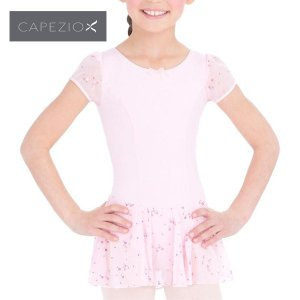 レオタード 子供 カペジオ パフスリーブドレス  スカート付 |mignonballet