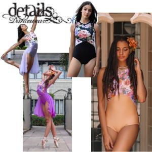バレエ レオタード 大人 Details Dancewear GRACE 胸元が花柄 背中メッシュ|mignonballet