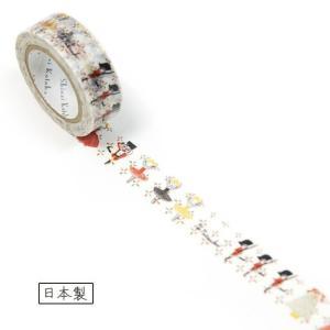 バレエ柄 マスキングテープ (Shinzi Katoh)くるみ割り人形柄 mignonballet