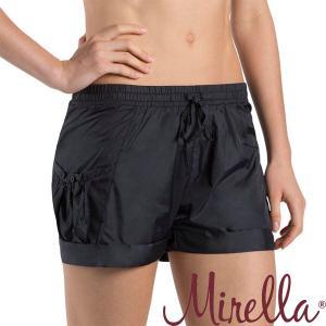バレエ ショートパンツ MIRELLA ナイロン素材 サイドポケット付 ブラック mignonballet