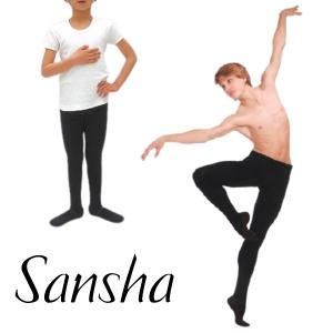 バレエ タイツ 男の子 サンシャ ブラック 黒 メンズ ボーイズ