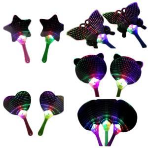 うちわ 団扇 光る LED イベント コンサート 誕生日 パーティー グッズ 玩具 おもちゃ キラキラ ハート型 猫 祭り 祭 おしゃれ 個性的 かわ|mignonlindo