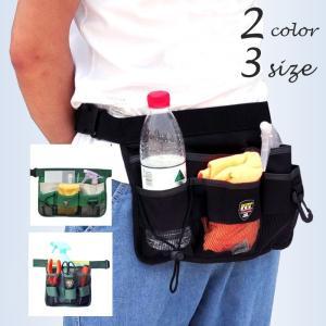 ポケットのたっぷりついたウエストバッグ。 ガーデニングなどの作業時、頻繁に出し入れする作業グッズの収...