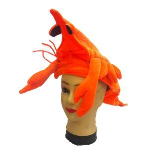 被り物 かぶりもの コスプレ コスチューム小物 帽子 キャップ エビ 海老 ザリガニ ロブスター シーフード 仮装 変装 大人 おもしろい ハロウィン mignonlindo