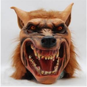 狼 オオカミ 被り物 マスク ヘッドマスク アニマル 動物 男女兼用 男性 女性 メンズ レディース ハロウィン パーティー イベント 仮装 コスプレ|mignonlindo