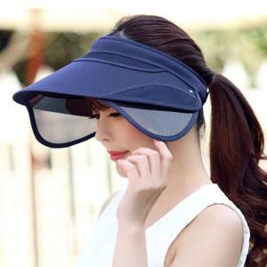 帽子 サンバイザー 紫外線 室外 レディース 女性 日焼け防...