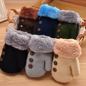 ミトン 手袋 グローブ 紐付き 内側ボア 裏起毛 フェイクファー ベビー 子供用 キッズ 飾りボタン 防寒 寒さ対策 暖かい あったかい 保温 雪遊び mignonlindo