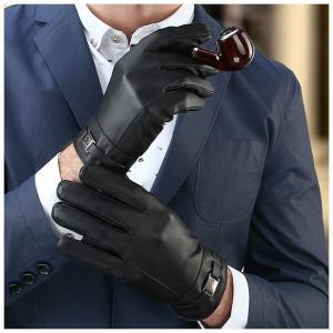 タッチスクリーン手袋 スマートフォン対応 メンズファッション 便利 プレゼント 贈り物 クリスマス オシャレ カッコイイ 秋冬 暖かい ブラック 黒|mignonlindo