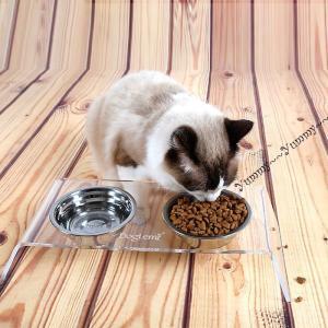 ペット用品 ペット用フードボウル フードボウル 1台2役 猫 ねこ キャットフード 犬 いぬ ドッグフード ステンレス 取り外し可能 ペット用食器 2
