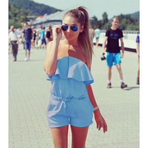 レディースロンパース オールインワン ジャンプスーツ レディース 女性 夏 海外ファッション リゾート チューブトップ ベアトップ オフショルダートッ|mignonlindo