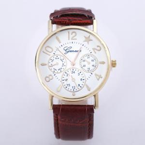 腕時計 アナログ 男女兼用 ユニセックス フェイクレザーベルト フェイクレザー 秒針 スター 星 ウォッチ 時計 通学 カラフル かわいい 可愛い お|mignonlindo