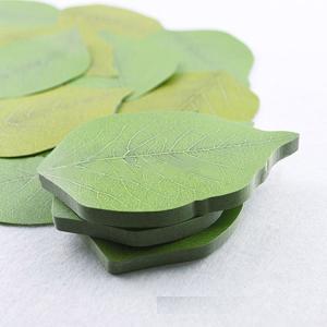 葉の形をしたポストイット50枚  【サイズについて】 *画像参照お願いします ※メーカー採寸の為、多...