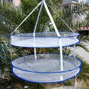 コンパクトに折りたためる物干しネットです  【サイズについて】 直径約60cm
