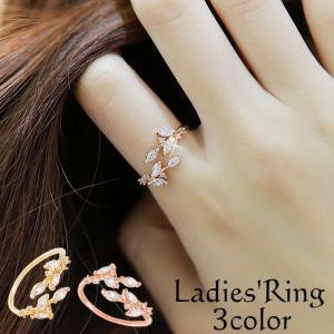 アクセサリー 指輪 リング シンプル ジュエリー スパイラル リーフ フリーサイズ レディース ファッション小物 おすすめ プレゼント 上品 かわいい|mignonlindo