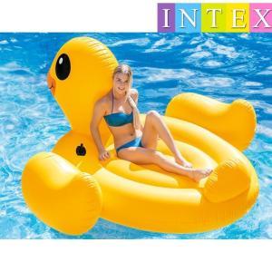 INTEX アヒルフロート ビッグサイズ 浮き具 ボート 浮き輪 ビーチフロート 浮輪 うきわ ウキワ 夏 プール 海水浴 水遊び 川遊び リゾート|mignonlindo