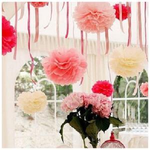 フラワーポム 花ポンポン ペーパーポンポン デコレーション 結婚式 誕生日 ホームパーティー イベント 飾り 子供部屋 35cm 38cm 40cm mignonlindo