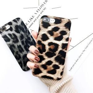 iPhoneカバー iPhoneケース ソフトシェル スマホカバー スマートフォンケース ヒョウ柄 豹柄 レオパード フェイクレザー おしゃれ 可愛い|mignonlindo