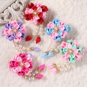 ヘアクリップ ヘアピン 髪飾り 子供用 女の子 ヘアアクセサリー ファッション小物 小物 ファッションアイテム おしゃれ 花 フラワー フェイクパール mignonlindo
