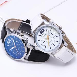 腕時計 アナログ PUレザーバンド 時計 男女兼用 メンズ レディース ペアウォッチ PUレザー フェイクレザー 秒針 バーインデックス ウォッチ シ