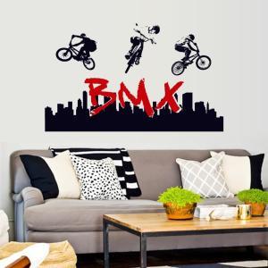 BMXのオシャレなウオールシールです。  【サイズについて】 画像を参照下さい。  【素材について】...