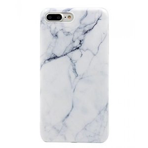 iPhone 7 Plus Case, Wastou [Marble Stone Pattern Series] Soft TPU Creative Marble Case for iPhone 7 Plus (2016) (Marble White)