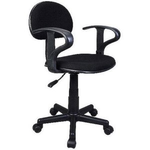 Student Task Chair with Arms, Black