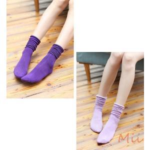靴下 ソックス ハイソックス カラフル 2WAY シンプル|miistore