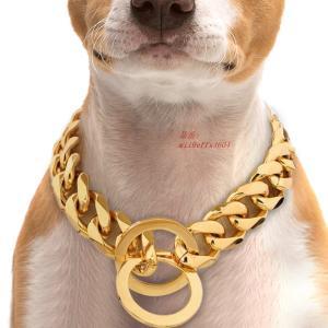 4 ミリメートル犬 チェーン 首輪 ステンレス 鋼 トレーニング チョーク スリ ップ 首輪中 大型 犬 ピットブルパグブル ドッグ ゴールド グループ上 ホーム