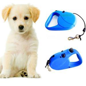 5メートル3メートル格納式犬 鎖 リード 片手 ロック トレーニング ペット 子犬 ウォーキング ナイ ロン リーシュ コー ド アジャスタブル犬襟犬 猫用 グルー|miistore