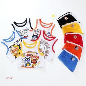 アンパンマンTシャツ タンクトップ パンツ2点セット キッズ 夏 ジュニア 女の子 子供服 男の子トップス|miistore