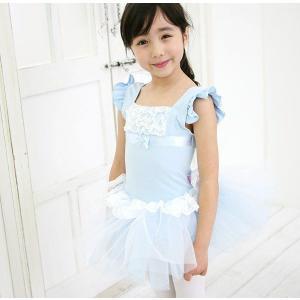 【現品限りSALE】キッズレオタード【ティファニー】ブルー|mijong
