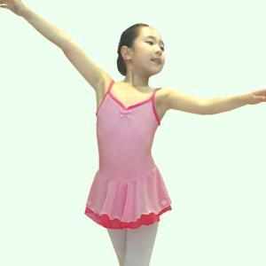 【現品限りSALE】[CBL042]ツートンカラーレオタード【キャミ】ピンク|mijong