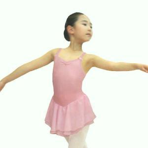 [CBL046]綿スパンレオタードWシフォン【キャミ】ピンク|mijong
