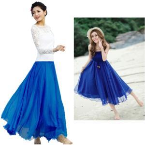ダンス衣装 ロングスカート(2WAY) ワンピースにもなる2WAY  鮮やかな目を惹くカラー マキシ 社交ダンス ミカドレスcy219-1|mika