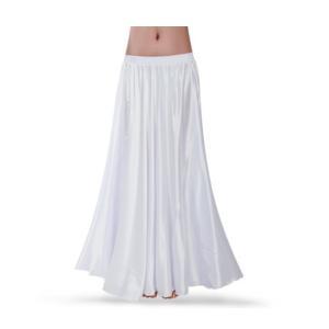 ダンス衣装 広がるスカート 白 ホワイト サテンスカート ペチコートにも ミカドレス cy134-white