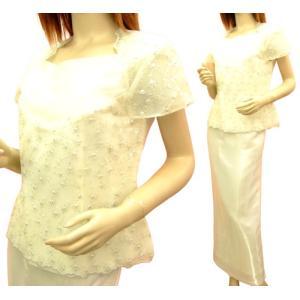大きいサイズ 白 コーラス衣装 ステージ衣装 安い 結婚式 カラオケ 演奏会 ミカドレス 601-p3 mika