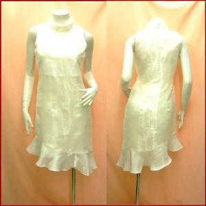 完売 白 パーティードレス ワンピース セール 大きいサイズも M〜XL 結婚式 シンプル ミカドレス 601-p8 mika