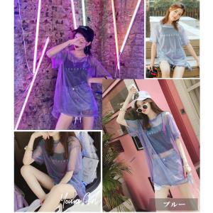 Tシャツ ダンス衣装 キャミソールとシースルーTシャツのセットアップ  重ね着 ミカドレス cy8n-2|mika|06