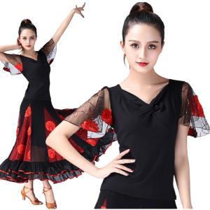 トップスとスカート 2点セット セットアップ  アシンメトリー ヒップスカーフ ダンス衣装 ベリーダンス 社交ダンス  ミカドレス cy207|mika